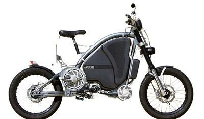Imagen de la mezcla entre bici y moto eléctrica, la eRockit