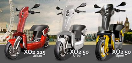 Imagen de los tres modelos de Xor Motors