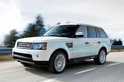 imagen del Land Rover Range_e circulando
