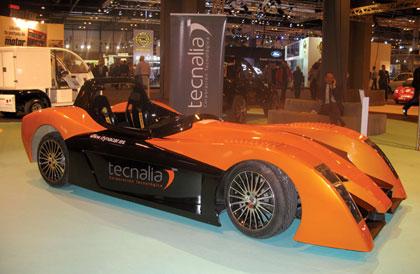 imagen del coche eléctrico de Tecnalia Dynacar