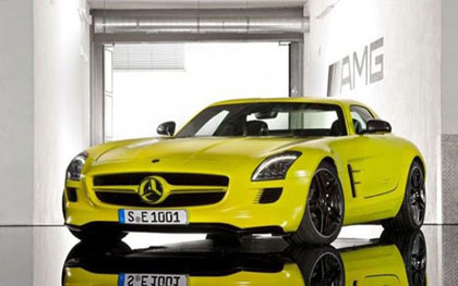 imagen del deportivo eléctrico Mercedes-Benz SLS AMG e-Cell