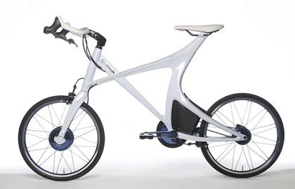 imagen lateral de la bicicleta eléctrica de Lexus, la Lexus Hybrid Bycycle Concept