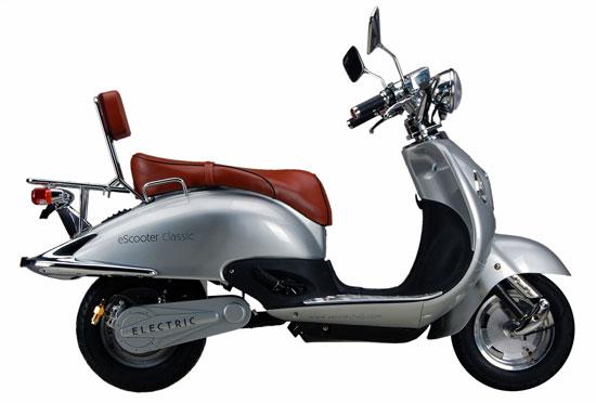 imagen lateral del scooter eléctrico Xero Classic 3kw, de color plateado