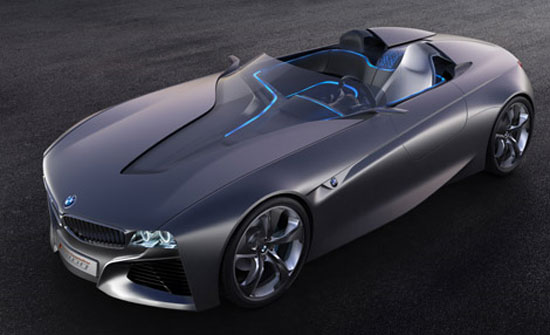 imagen superior-lateral del prototipo BMW Vision ConnectedDrive