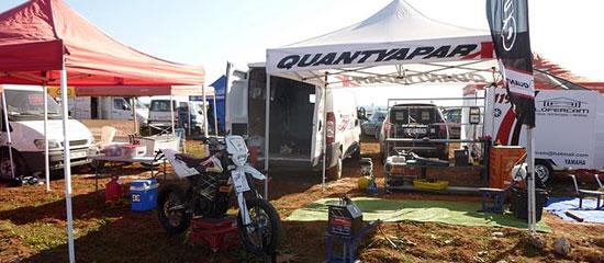 imagen del padock de Quantya en el Cross Country Eléctrico 2011 de Villarasa
