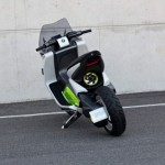 imagen trasera del scooter elctrico BMW E Scooter Concept.