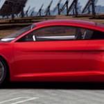 Audi e-tron con, al fondo, placas fotovoltaicas