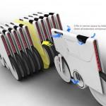 imagen del aparcamiento del concepto de bicicletas electricas ebiq