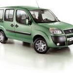 Imagen del Fiat Doblo eléctrico, de color verde