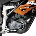 motor de la ktm freeride, modelo motocross