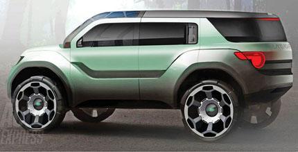 Imagen del prototipo de land rover defender híbrido