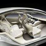 Imagen del los asientos y del interior del Mercedes F 800 Style