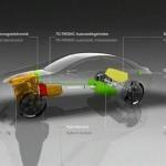 Detalle del sistema del motor del Mercedes F 800 Style