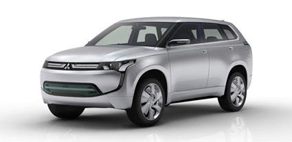 Mitsubishi concept px-miev imagen sobre fondo blanco, color del coche gris