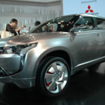 Imagen del Mitsubishi concept px-miev en exposición