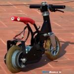 Vemos la moto eléctrica mas pequeña del mundo una vez terminado su montaje