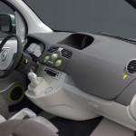 Imagen de los interiores de la Renault Kangoo Be Bop ZE eléctrica