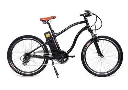 Ecobike Adventure, bicicleta electrica de color negro