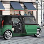 imagen de la puerta giratoria del taxi electrico de volkswagen