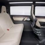 asientos traseros del volkswagen milano taxi eléctrico