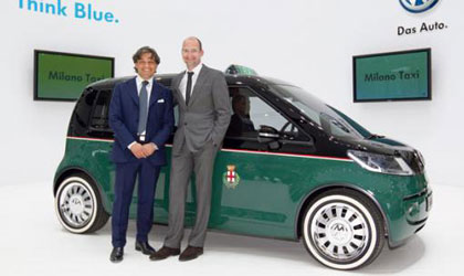 presentacion del concepto de Volkswagen Milano Taxi Eléctrico