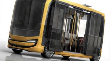 imagen del concepto de autobús eléctrico, Eolo