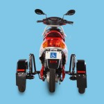vista trasera de la moto electrica para discapacitados Roamer Able