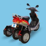 imagen lateral de la Roamer Able, moto eléctrica para discapacitados