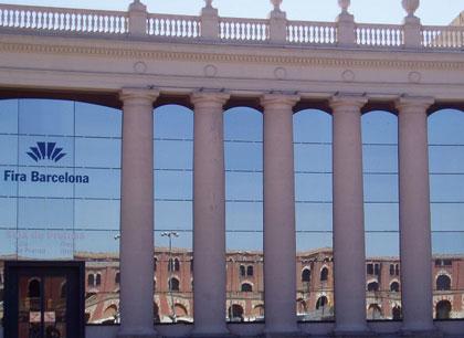 imagen de la fachada de la Fira de Barcelona