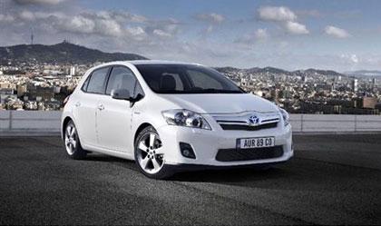 imagen del Toyota Auris Híbrido en Barcelona