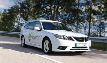 imagen del Saab 9-3 ePower en una carretera