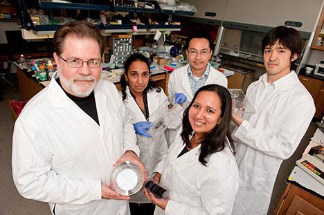 imagen del grupo de investigadores de las baterías de litio con nano poros