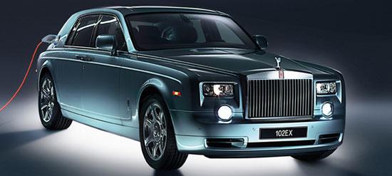 ampliación de imágen del prototipo de limusina eléctrica, Rolls-Royce 102EX