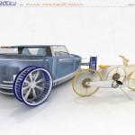 concepto de movilidad con aerogeneradores del prototipo Ventile