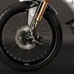 rueda delantera de la moto eléctrica Zero XU