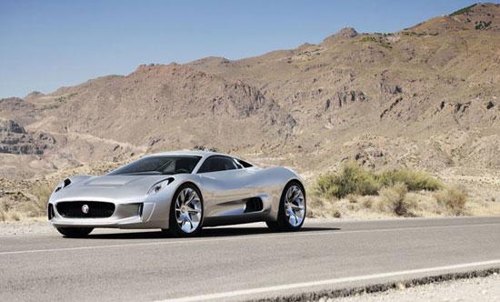 imágen del Jaguar C-X75, del que se producirán 250 unidades.