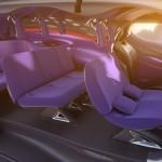 interiores del prototipo Citroën Tubik, que dispone de 9 asientos.
