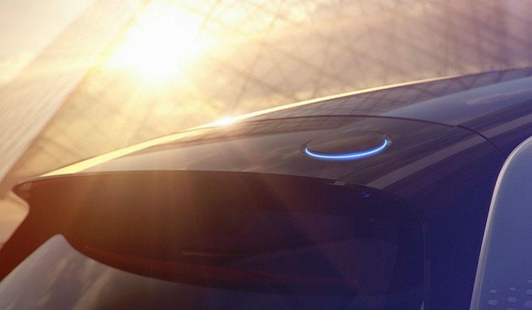 Imagen donde vemos la toma de recarga de las baterías del próximo prototipo compacto eléctrico de Volkswagen.