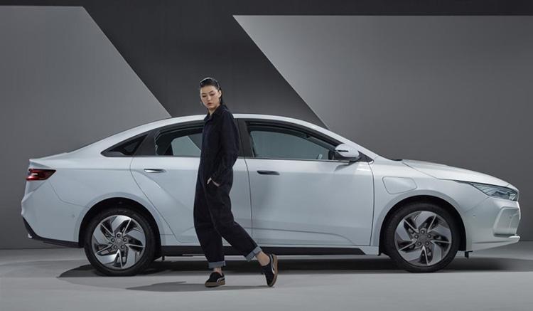 Imagen donde podemos ver la primera imagen del nuevo coche eléctrico de Geomatry, la nueva marca de coches eléctricos de Geely.